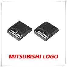 2X For Mitsubishi Delica L300 L400 L200 Eclipse Cross Lancer 9 10 Pajero 2 3 4 Car LED Door Warning Logo Laser Projector Lights