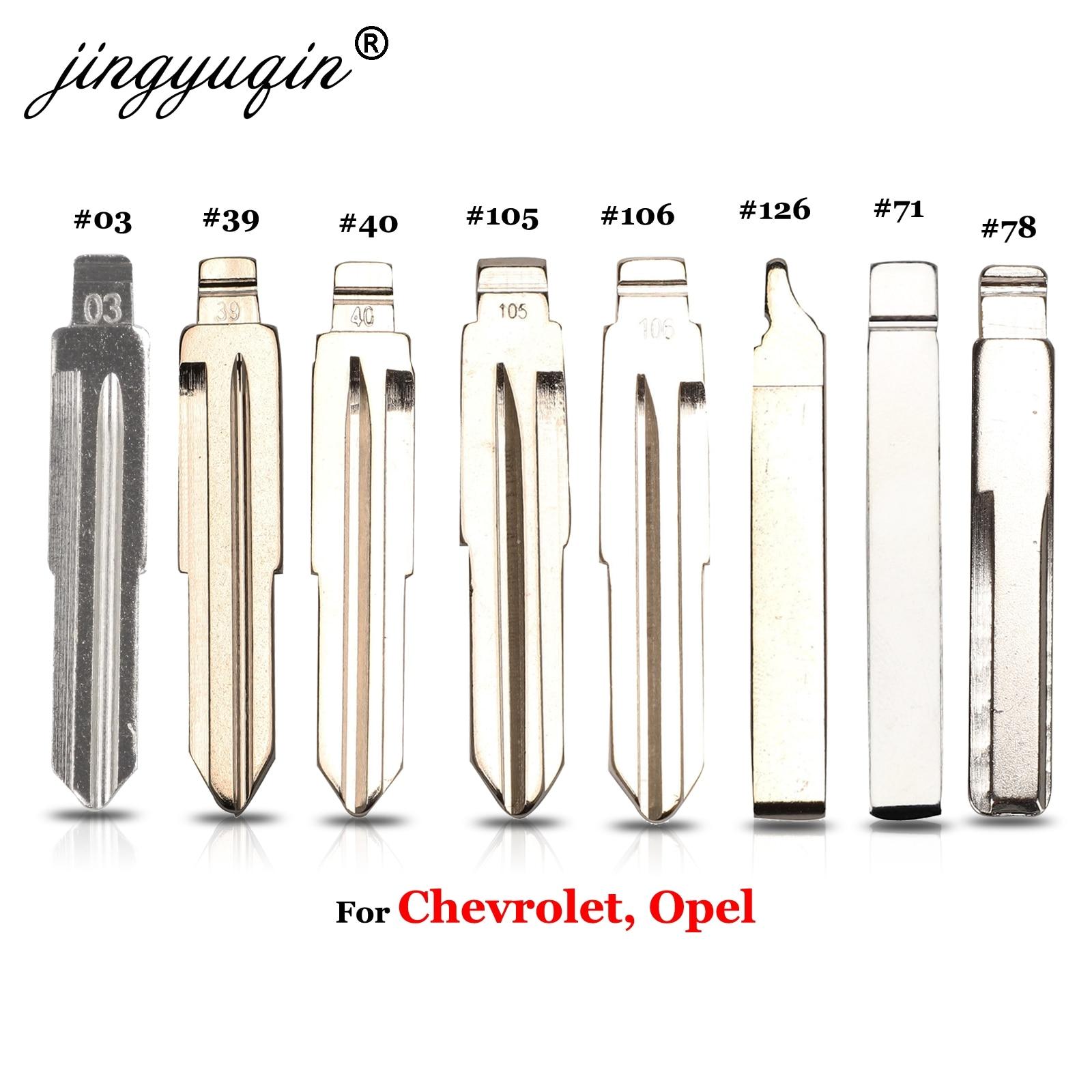 Jingyuqin флип Автомобильный ключ No.03 #39 40 105 106 71 # HU100 для Chevrolet Cruze SPrak Aveo Camaro Equinox Opel HU43 KD KEYDIY