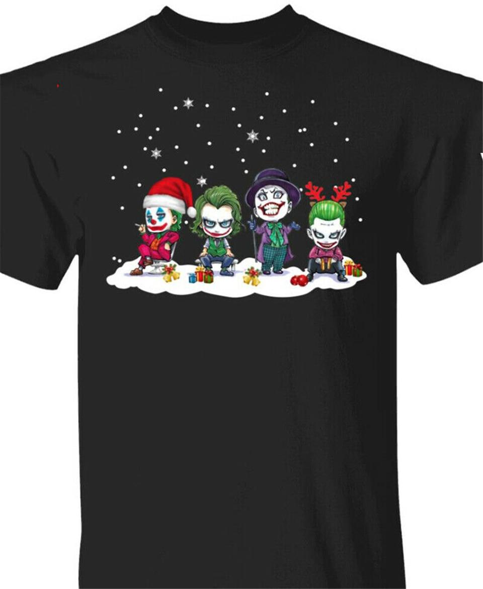 Camiseta del Joker Joaquin Phoenix Heath Ledger Jack Nicholson Chibi, camiseta de Navidad, camisetas de manga corta, camiseta