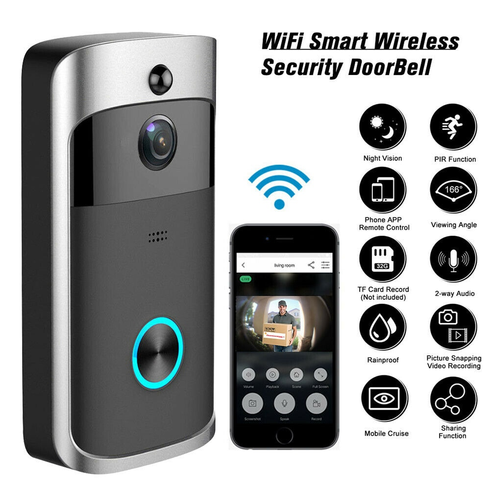 Smart Doorbell Camera Wifi Wireless Call Intercom Video-Eye For Apartments Door Bell Ring For Phone