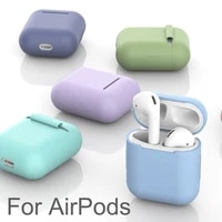 soft silicone cases for airpods 12 protective case tpu wireless earphone cover for air pods charging box bags