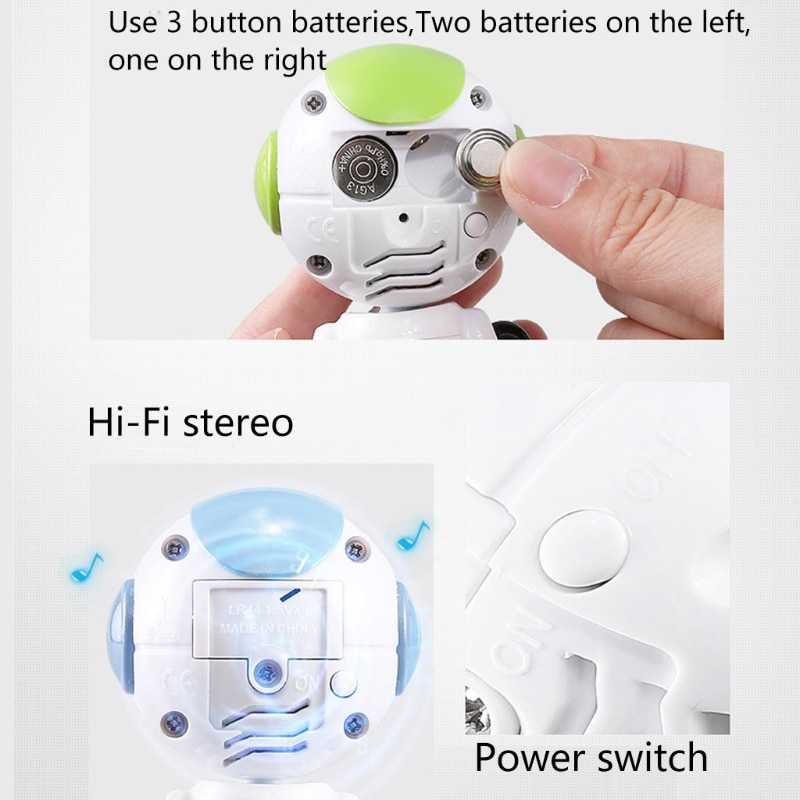 Kids Electric Touch Control Smart Mini Alloy Robot DIY Gesture Expressed LED Eyes Voice Model Educational RC Toys Gifts enlarge