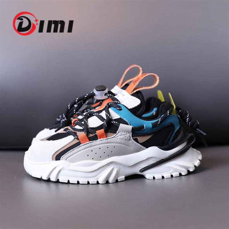 DIMI 2021 الخريف الأطفال أحذية الأولاد أحذية رياضية لينة ضوء تنفس شبكة في الهواء الطلق الاطفال أحذية رياضية موضة أحذية الصبي عادية