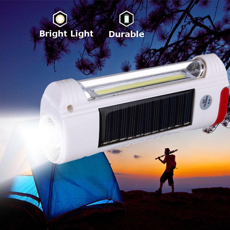 2020 nouvelle énergie solaire/LED Rechargeable par USB lampe de poche Camping randonnée lumière lanterne lampe
