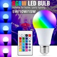 duutoo rgb light bulb e27 smart lamp bulb rgbw bombilla led home lighting light 5w 10w 15w magic rgbww change color lamps 220v