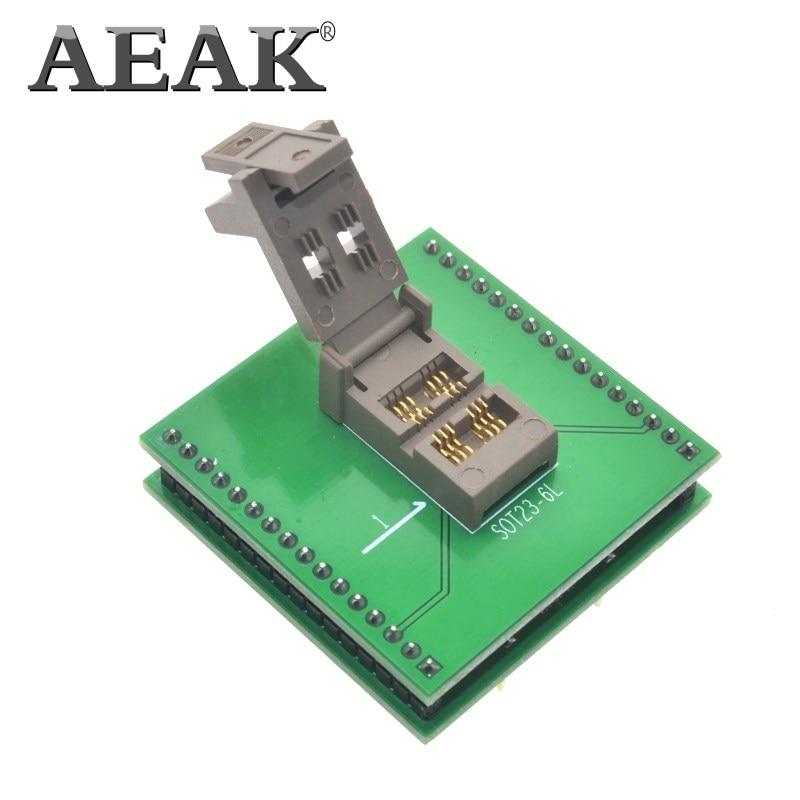 Aeak SOT23-6L sot23 para dip6 ic programador adaptador chip soquete de teste