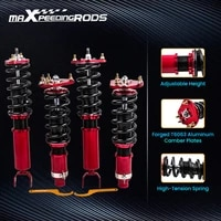 coilovers suspension kits for honda prelude 92 01 shock absorbers adj height spring front rear top mount camber plate
