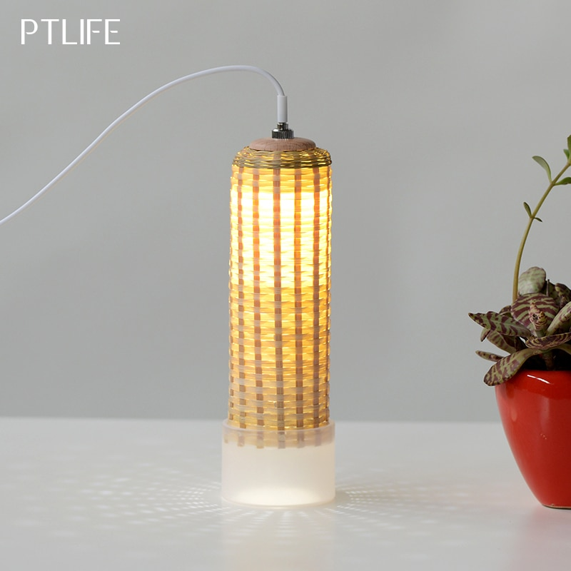 Luz de noche de bambú, lámpara LED creativo de mesa, interfaz USB, lámpara de alimentación para habitación de niños, regalo personalizado, Envío Gratis