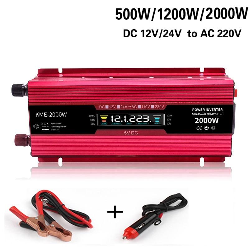 VFD Modified Sine Wave inverter DC inverter DC 12V / 24V to AC 220V 500W 1200W 2200W voltage transformer solar power vehicle