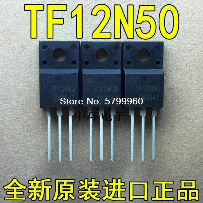 10 unids/lote TF12N50 AOTF12N50 TO-220F 12A 500V
