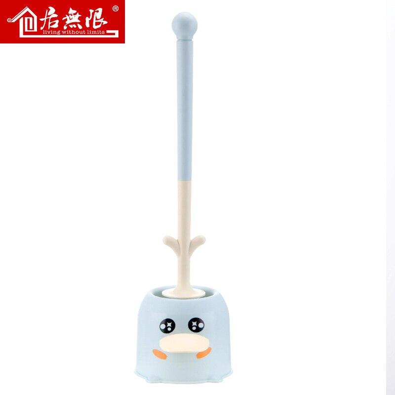 Plastic Toilet Brush Creative Durable Long Handle Portable Toilet Brush Set Standing Brosse Toilette Bathroom Products DK50TB enlarge