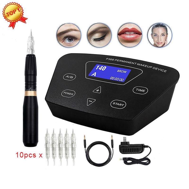 BIOMASER HP100P300 Permanent Makeup Rotary Machine Eyebrow Tattoo Kits Professional Pen For Eyebrow
