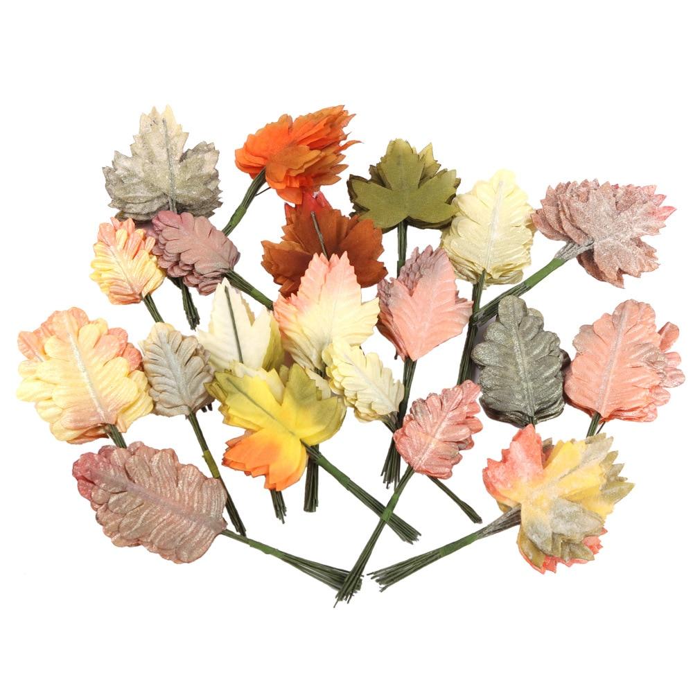 Имитация кленового листа шелковой ткани цветы, листья Примечание Сделай Сам комнатные Свадебные листья украшение растения реквизит для фо...