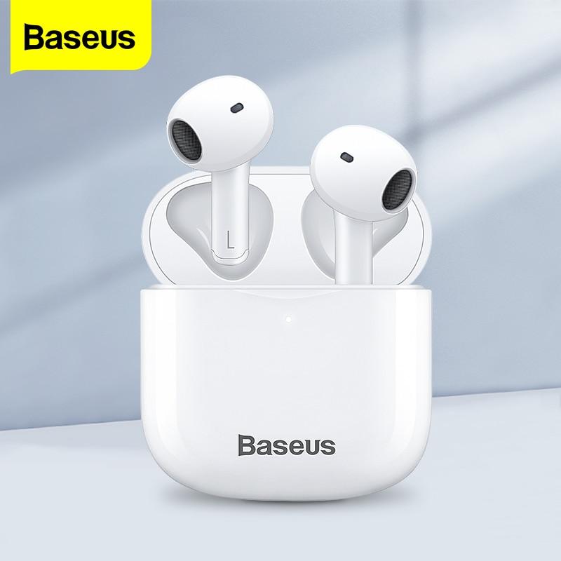 Baseus E3 TWS سماعات لاسلكية حقيقية بلوتوث 5.0 سماعات الرياضة في الأذن HD ستيريو سماعات أذن سماعة آيفون سامسونج شاومي