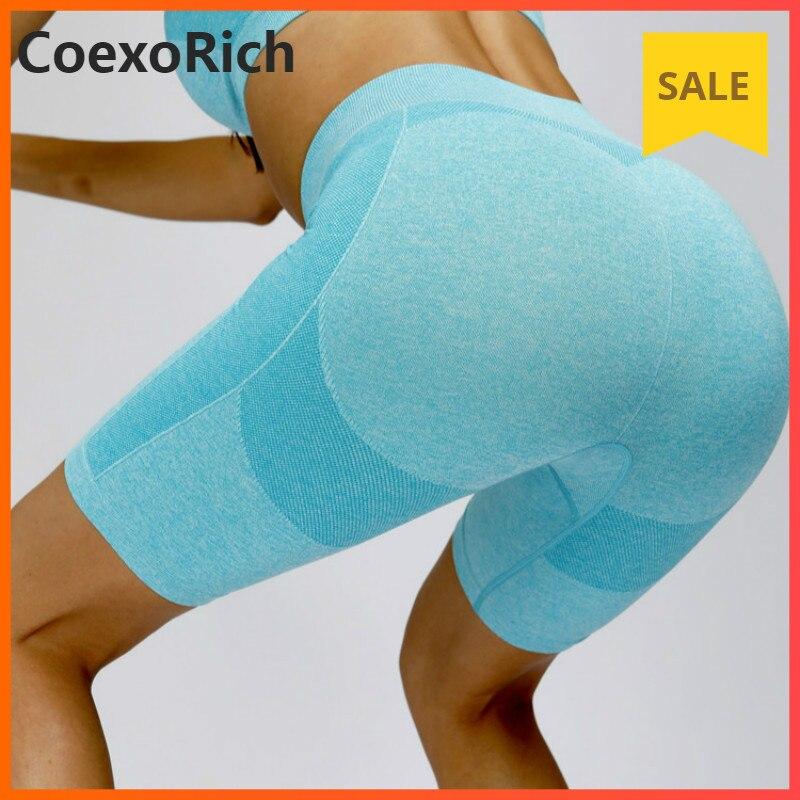 Spodnie sportowe do biegania spodenki gimnastyczne damskie spodenki odzież sportowa krótkie spodnie do fitnessu bez szwu wysokiej talii elastyczna trening sportowy rajstopy