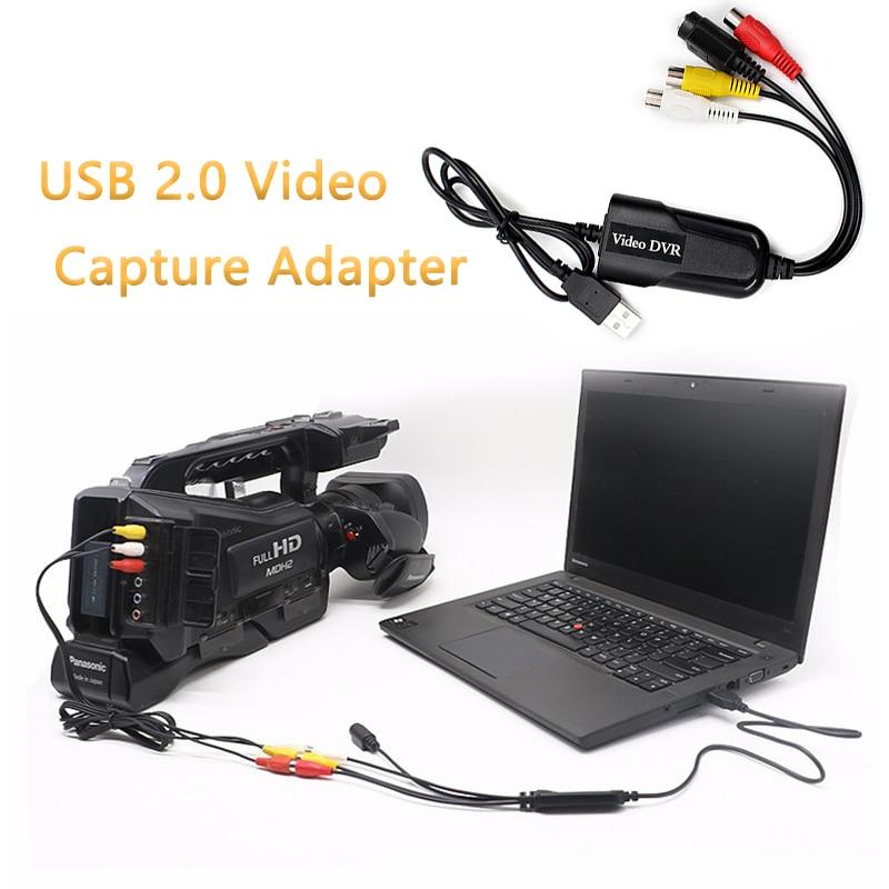 Адаптер для видеозахвата, USB 2,0, 4-канальный видеорегистратор, ТВ, DVD, VHS, ТВ для Win7/8/10/XP/Vista, Прямая поставка
