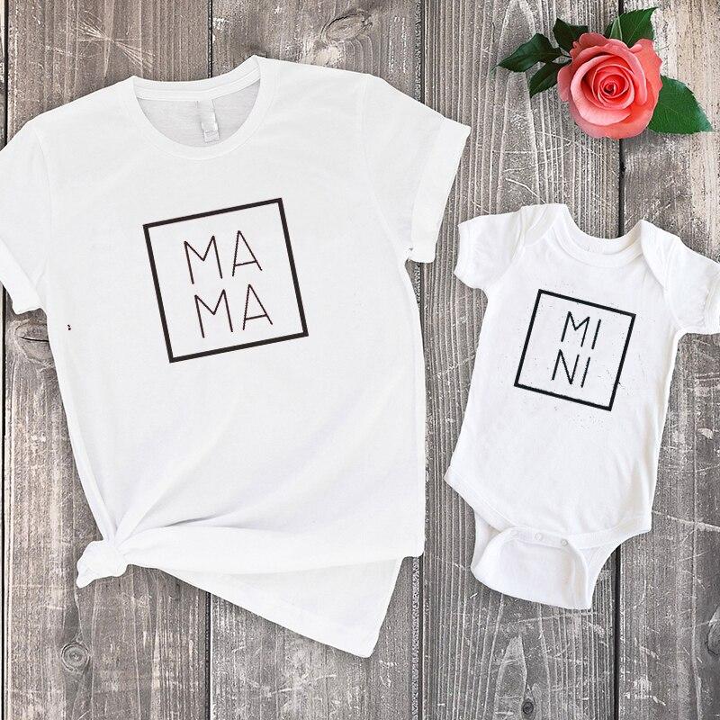 Mama Shirts Mini Matching Tshirts for Mom and Baby Family Clothing Big Sister Fashion Tee Cotton 2020 Outfits