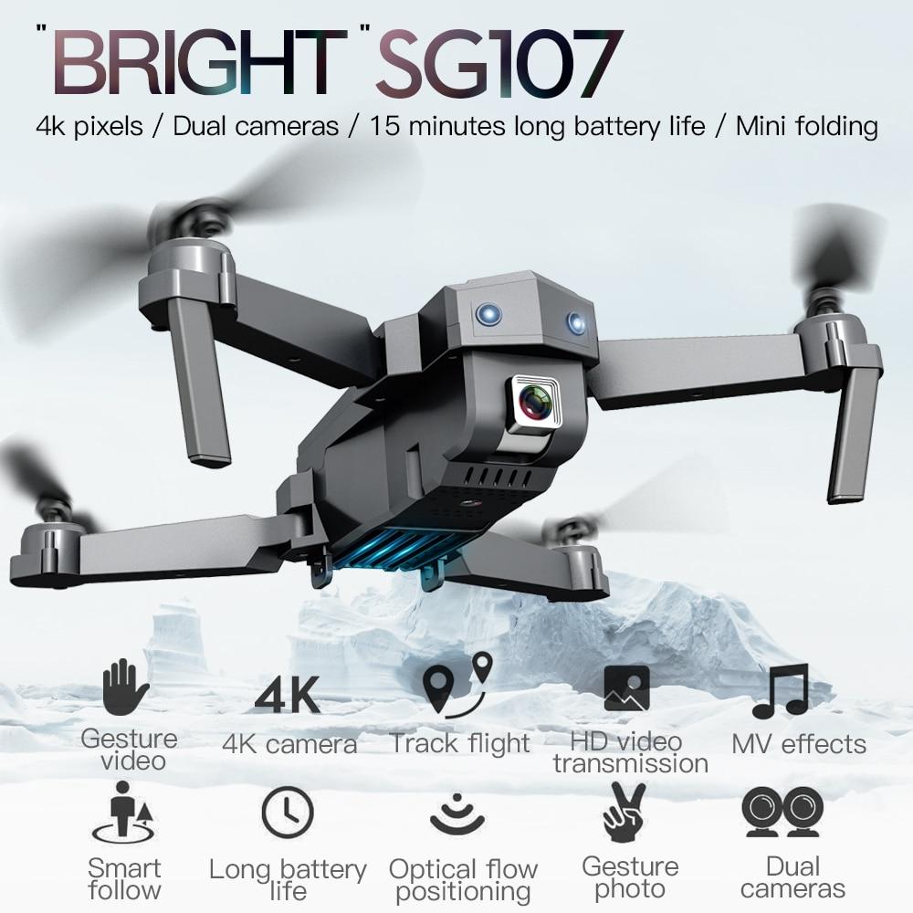 2020 NEW SG107 Mini Drone with 4K HD WIFI 1080P FPV Camera 2.4GHZ Quadcopter Optical Flow Quadrocopter Camera Toys VS E58 E68 enlarge