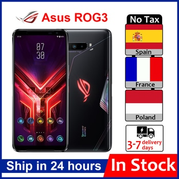 Asus – Smartphone ROG 3 5G Gaming, Rom Global, 6.59 pouces, Snapdragon865/865 Plus, 6000mAh, 144HZ FHD + AMOLED, NFC, téléphone portable ROG 3