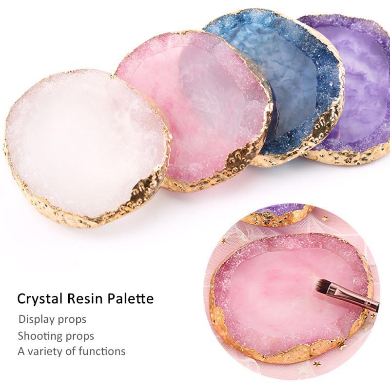 Résine naturelle Agate ongle couleur mélange Palette manucure pratique vernis à ongles support de dessin étagère bricolage Nail Art affichage