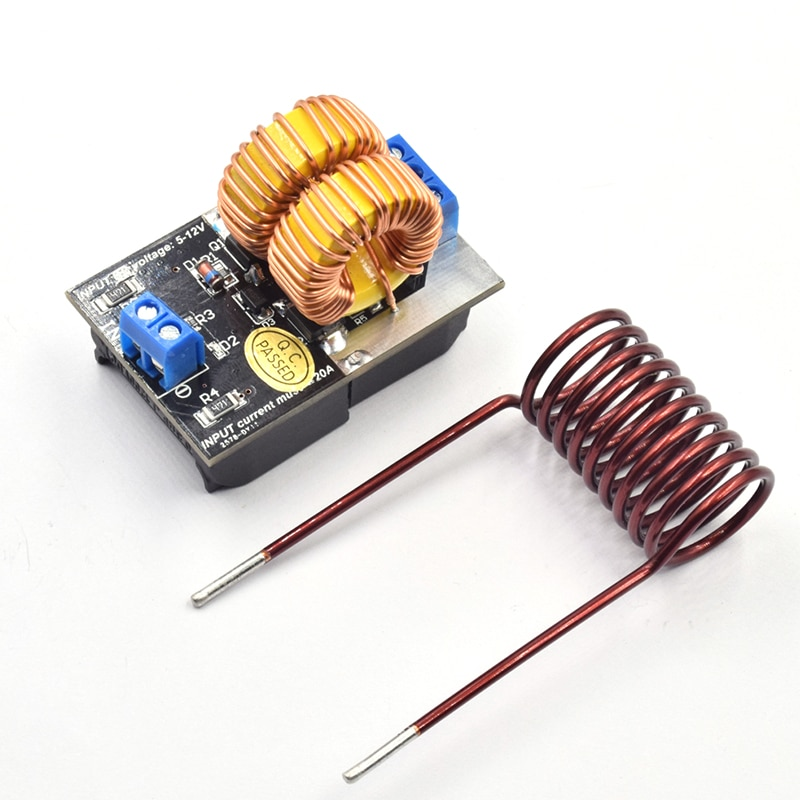 ミニdc 5-12v 150 ワットzvs誘導加熱ボード高電圧発生器ヒーター用のコイルとテスラjacobsはしごドライバA9-011