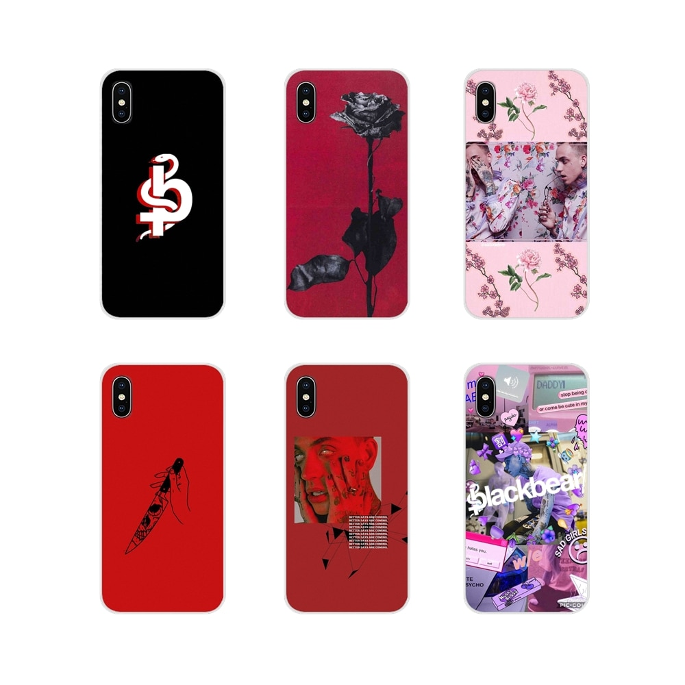 Funda para teléfono móvil Rosa pintada a mano de oso negro para Samsung A10 A30 A40 A50 A60 A70 Galaxy S2 nota 2 3 Gran Core Prime