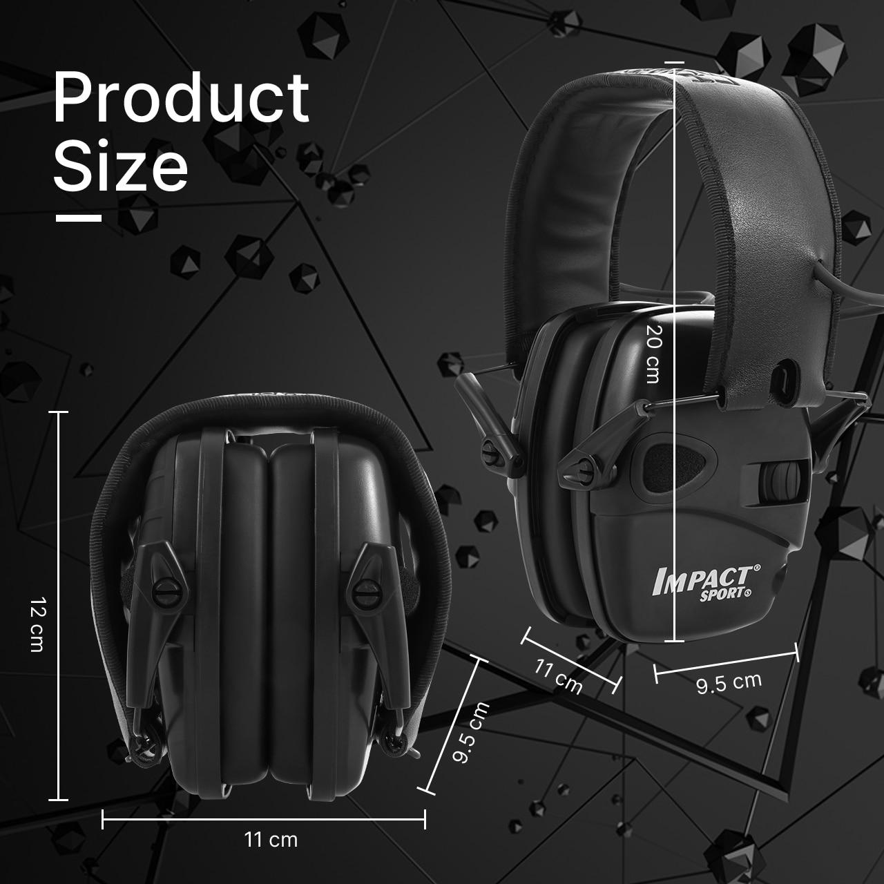 الأعلى مبيعًا سماعة أذن إلكترونية سوداء للرماية سماعات أذن رياضية خارجية مضادة للضوضاء سماعة رأس واقية للصوت