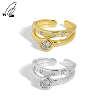 S'STEEL Sterling Silver 925 Korean Minority Design Zirconite Texture Opening Resizable Gifts For Wom