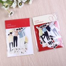 10set/lot Kpop JUNG KOOK SUGA JIMIN RM JHOPE V JIN Tags Sticky Note Bag Paper Sticker Toy Fans Gifts