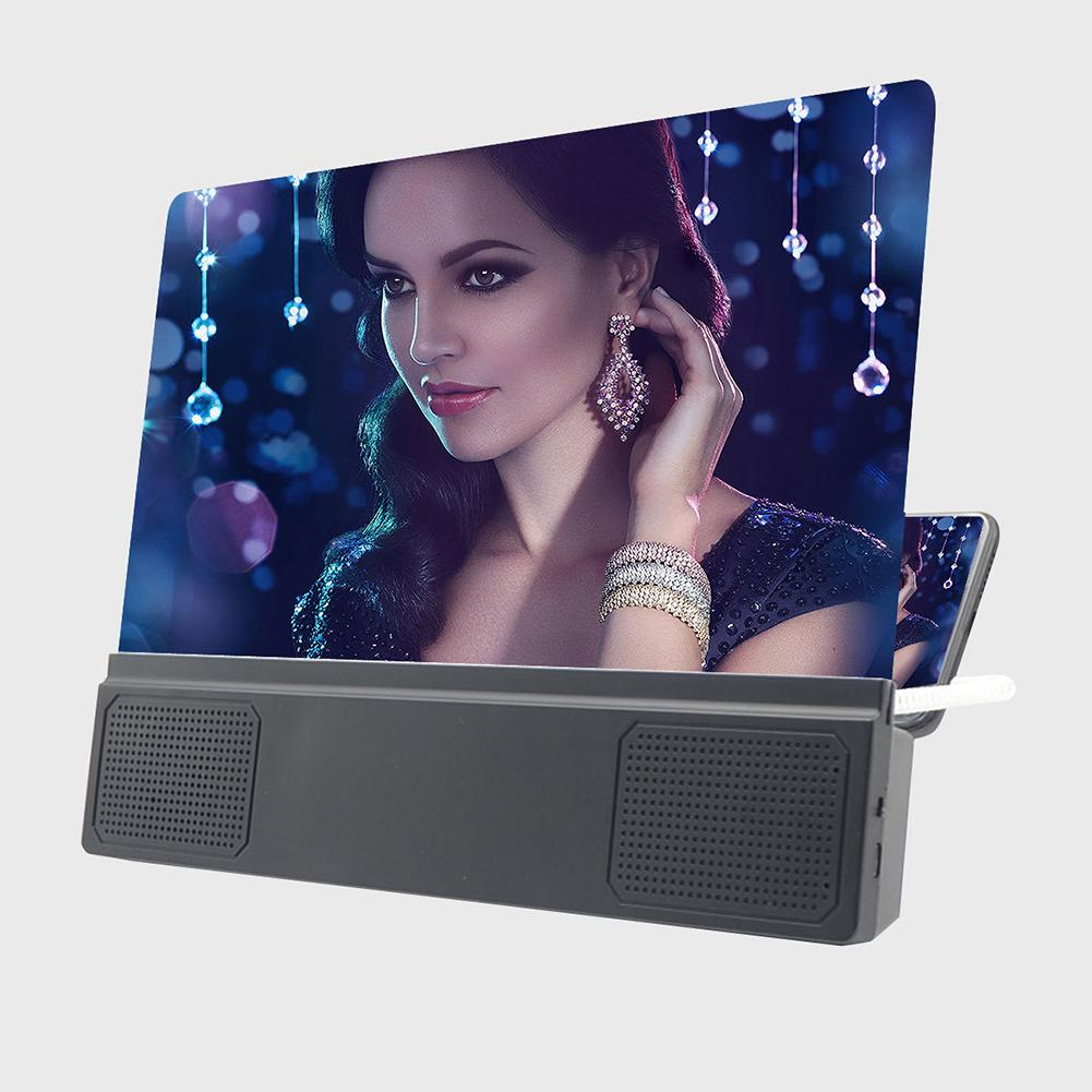 Mobile Phone Screen Amplifier HD Acrylic Lenses Clear Screen Portable 12-Inch HD Screen Amplifiers F