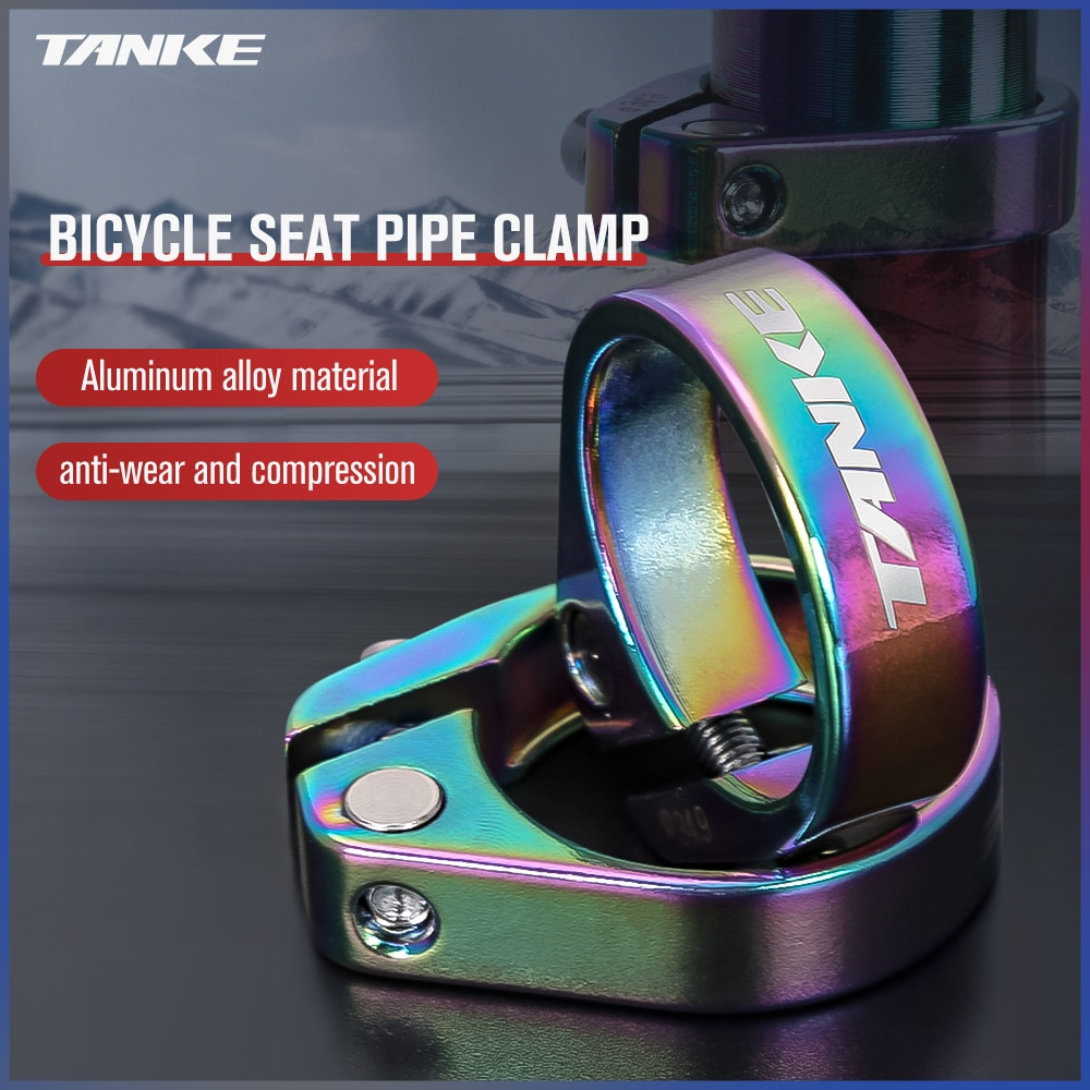 AliExpress - TANKE MTB Road Bike Seat Post Clamp 31.8 34.9mm Mountain Aluminum Alloy Ultralight Mountain Bicycle seatpost clamps cycling part