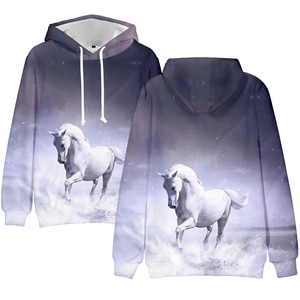 New Design Horse 3D Print Hoodies Boys/girls Sweatshirts Equus Caballus Hoodie Sweatshirts Men Pullover Jackets