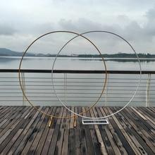 מעגל קשת חתונה רקע יצוק ברזל מדף דקורטיבי אבזרי DIY עגול מסיבת רקע מדף פרח עם מסגרת