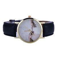 Women Halloween Christmas Devil Hand Pattern Watch Leather Analog Quartz Wrist Watch Dress Clock relojes mujer Drop shipping Q