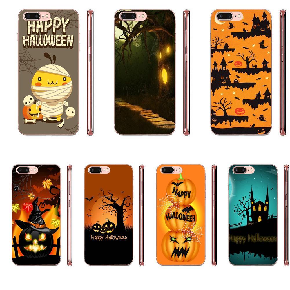 Fundas moda Happy Halloween calabaza murciélago para Samsung Galaxy A51 A71 A81 A90 5G A91 A01 S11 S11E S20 Plus Ultra