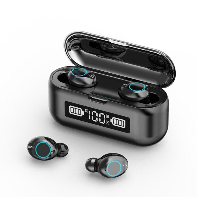 F9-45 TWS Bluetooth 5,1, auriculares inalámbricos con pantalla Digital, cancelación de ruido,...