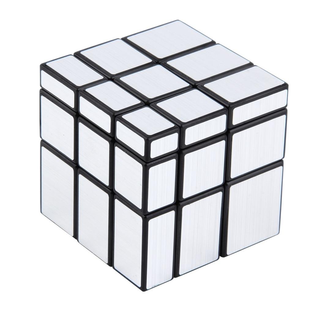 3x3x3 Mirror Blocks Silver Shiny Magic Cube Puzzle Brain Teaser IQ Kid Funny New Hot