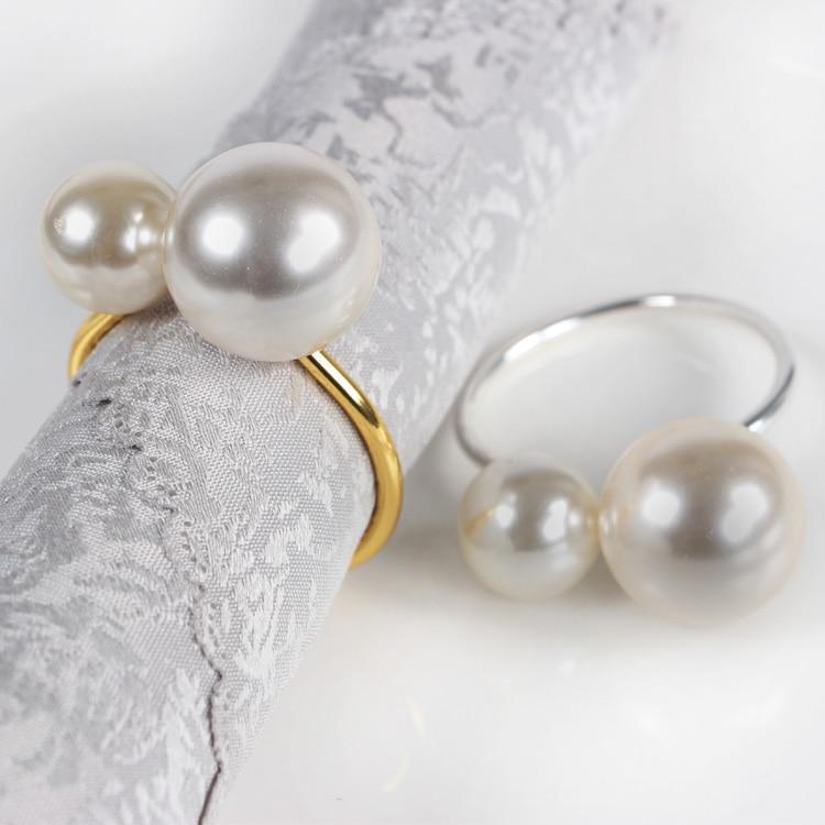 12 pçs conjunto de hotel mesa fio toalha fivela pérola guardanapo fivela anel guardanapo anel guardanapo anel guardanapos anel pérola