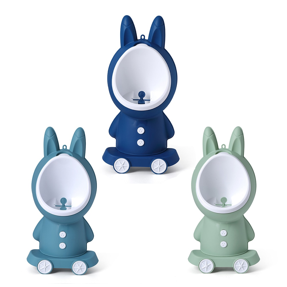 Baby Boy Urinal Rabbit Vertical Wall-Mounted Pee Boys Potty Standing Baby Toilet Adjustable Children's Urinal Toilet Training