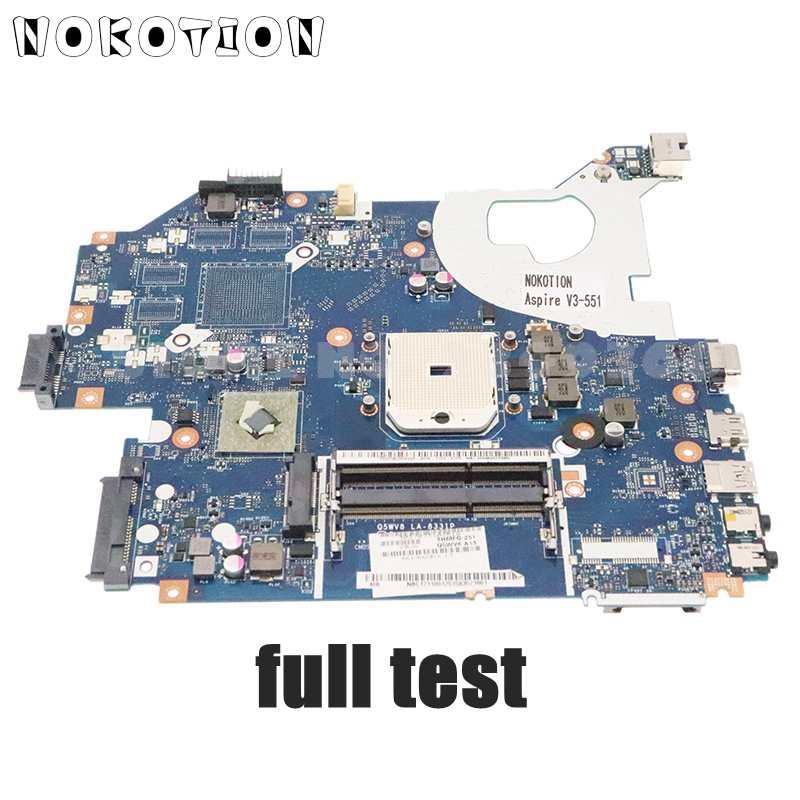 NOKOTION Q5WV8 LA-8331P اللوحة الرئيسية لشركة أيسر asipre V3-551 V3-551G اللوحة المحمول المقبس FS1 DDR3 NB.C1711.001 NBC1711001