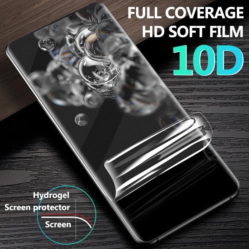 2 unidades de película de hidrogel suave de cubierta completa curvada 10D para Samsung A51 A71 Note 10 Plus S20 S10 S10e S9 Plus Note 8 película suave no de vidrio