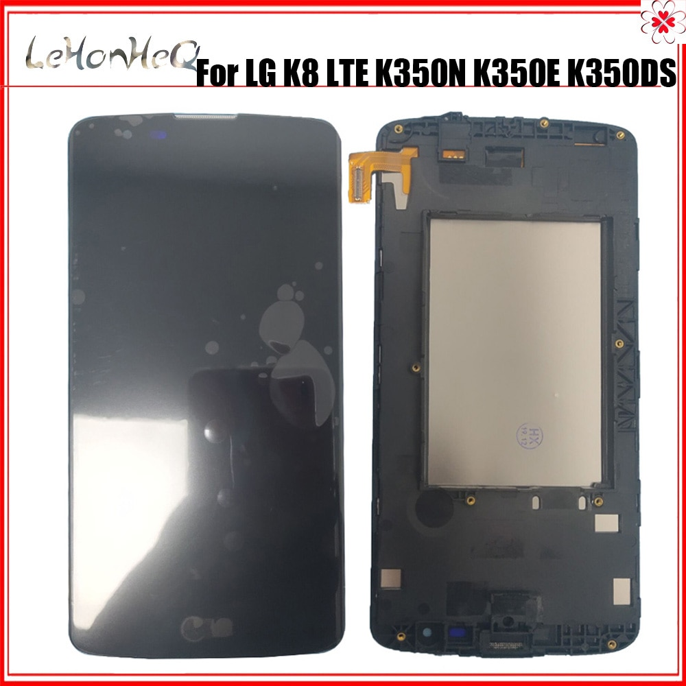 Teste display lcd para lg k8 lte k350 k350n k350e k350ds 2016 display lcd com tela de toque digitador assembléia com quadro