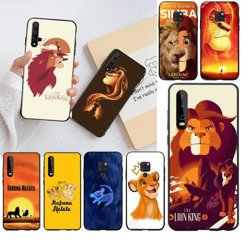 HPCHCJHM Король Лев Симба сотовый телефон чехол для Huawei P30 P20 lite Mate 20 Pro lite P Smart 2019 prime