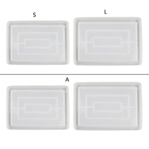 Fruit Tray Mold Resin Molds Large Rectangle Epoxy Tray Silicone Resin Mold for DIY Plate Making Roll Casting Mold Tools