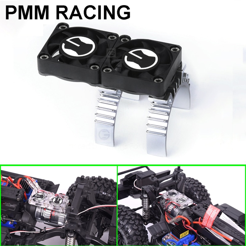 ESC Motor thermal induction radiator dual fan1/10 RC Crawler Car Traxxas TRX4 Defender SCX10 D90 D110 Trx6 G63 Upgrade parts enlarge