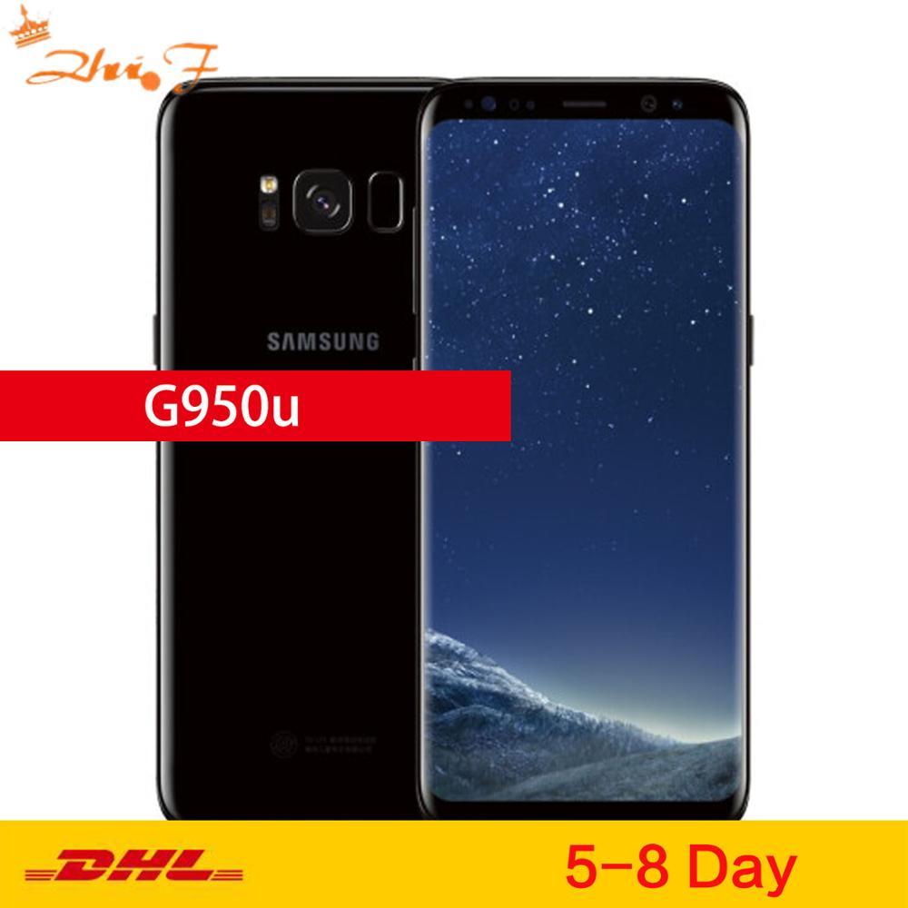 "Samsung Galaxy S8 G950U Original desbloqueado LTE GSM Android Teléfono Móvil Octa Core 5,8 ""12MP RAM 4GB ROM 64GB Snapdragon 835 NFC"