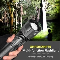 xhp50 xhp70 led flashlight strong bright waterproof torch usb charging telescopic zoomable flashlight for outdoor camping car