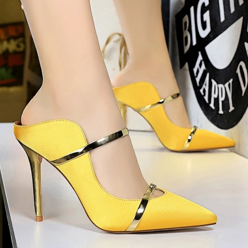 BIGTREE Shoes Fashion Woman Pumps Pointed Toe High Heels Women Shoes Stiletto Heels Sexy Party Shoes