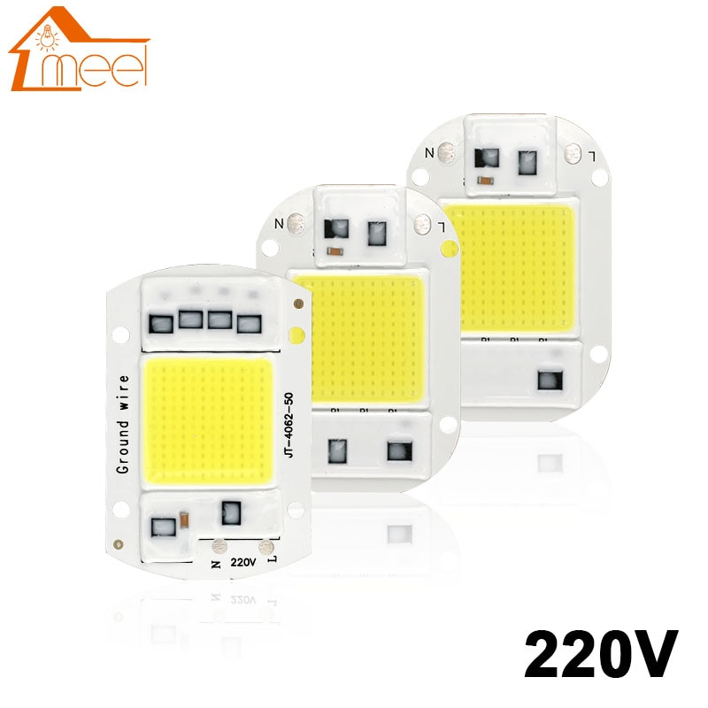 LED Chip 10W 20W 30W 50W Smart IC COB Light Beads 220V 240V DIY For LED Bulb Floodlight Spotlight