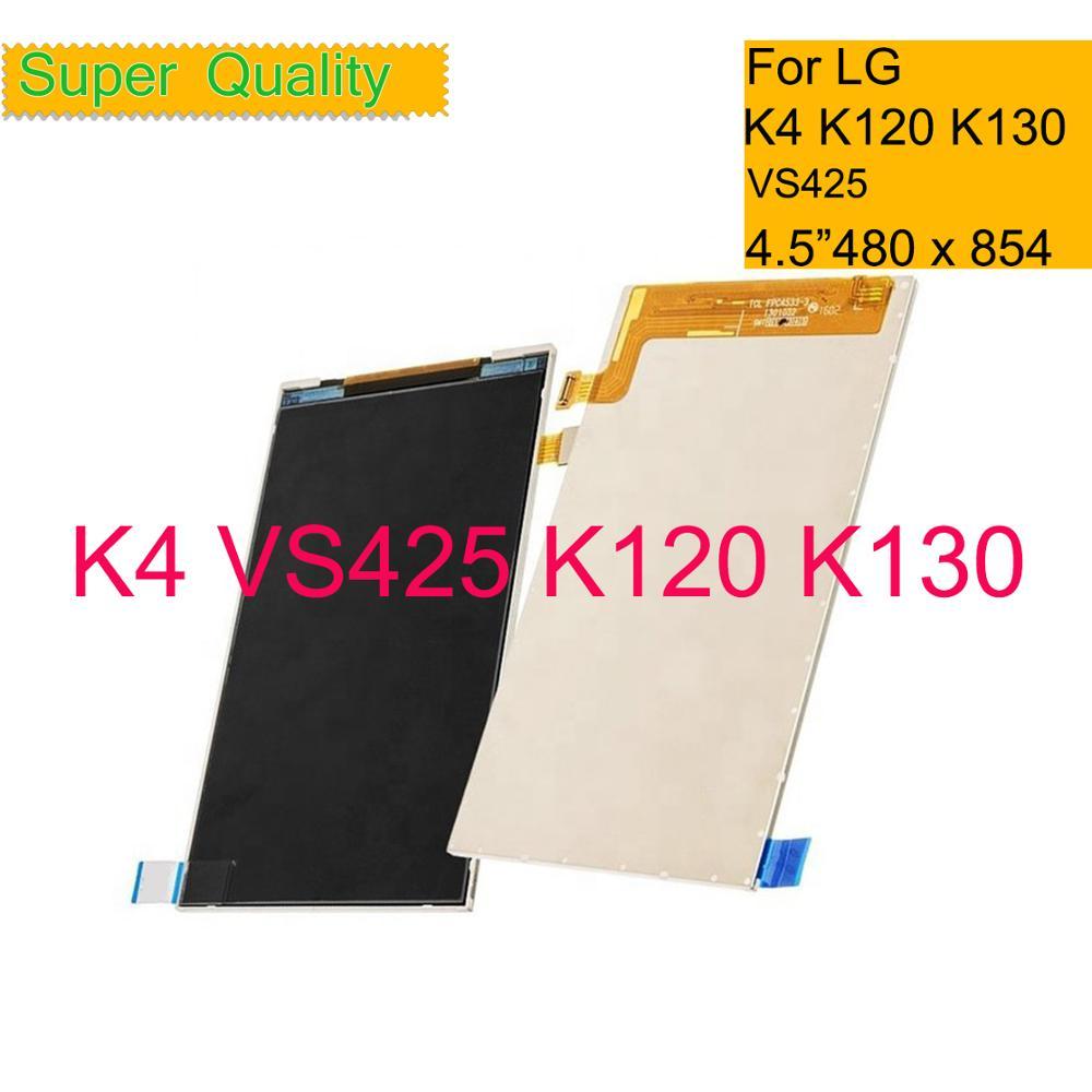 "10 unids/lote 4,5 ""para LG K4 LTE K4 4G K120 K120E K130E K130 VS425 pantalla LCD Panel Monitor módulo reemplazo"